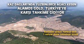 KAZ DAĞLARI'NDA AĞAC KESEN ALAMOS GOLD, TÜRKİYE'YE KARŞI TAHKİME GİDİYOR