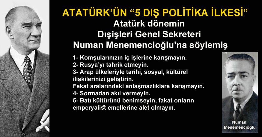 """ATATÜRK'ÜN """"5 DIŞ POLİTİKA İLKESİ"""""""