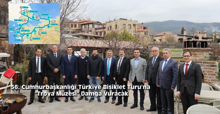 """56. Cumhurbaşkanlığı Türkiye Bisiklet Turu'na """"Troya Müzesi"""" Damga Vuracak"""