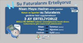 ÇAN BELEDİYESİ SU FATURALARINI 3 AY ERTELİYOR