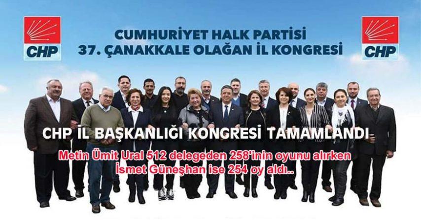 CHP İL BAŞKANLIĞI KONGRESİ TAMAMLANDI
