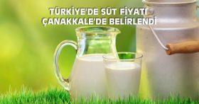 TÜRKİYE'DE SÜT FİYATI ÇANAKKALE'DE BELİRLENDİ