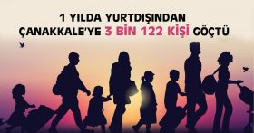 1 YILDA YURTDIŞINDAN ÇANAKKALE'YE 3 BİN 122 KİŞİ GÖÇTÜ