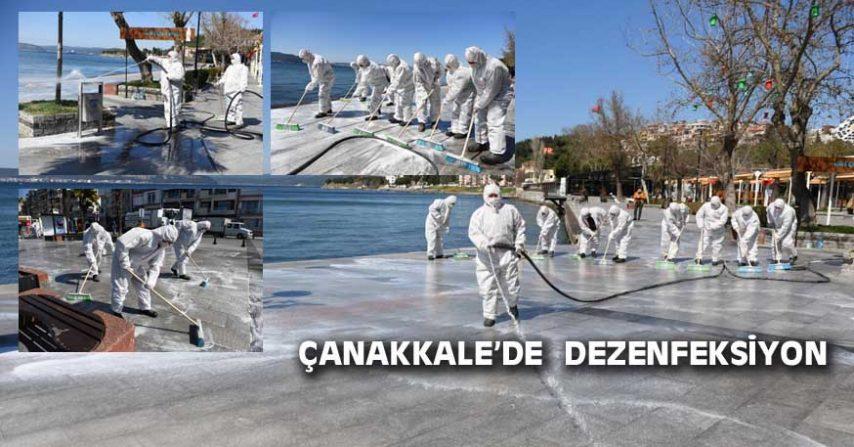 ÇANAKKALE'DE  DEZENFEKSİYON