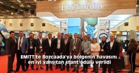 EMITT'te Bozcaada'ya bölgenin havasını en iyi yansıtan stant ödülü verildi