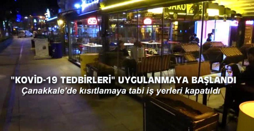 """""""KOVİD-19 TEDBİRLERİ"""" UYGULANMAYA BAŞLANDI"""