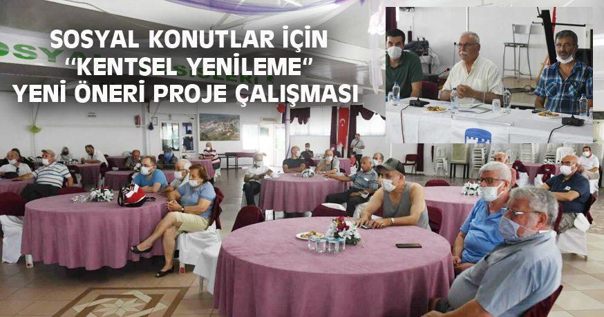 SOSYAL KONUTLAR İÇİN ''KENTSEL YENİLEME'' YENİ ÖNERİ PROJE ÇALIŞMASI