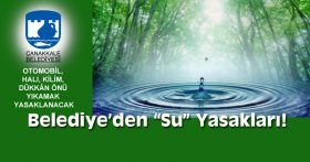 """BELEDİYE'DEN """"SU"""" YASAKLARI…"""