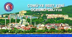 ÇOMÜ'YE 9887 YENİ ÖĞRENCİ GELİYOR